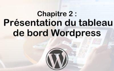 Connexion à WordPress et tableau de bord (Dashboard)